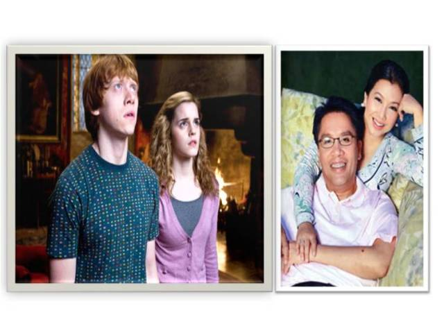 Hermione and Ron is Mar and Korina